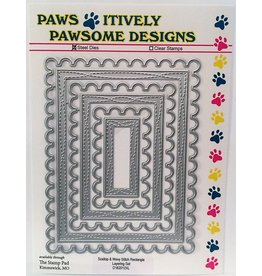 Paws-Itively Pawsome Designs Scallop & Wavy Stitch Rectangle Layering Set - Die