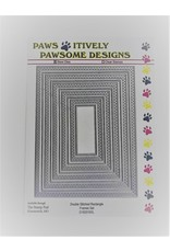 Paws-Itively Pawsome Designs Double Stitched Rectangle Frames Set - Die