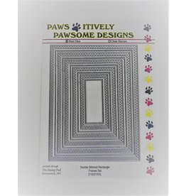Paws-Itively Pawsome Designs Double Stitched Rectangle Frames Set