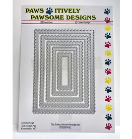 Paws-Itively Pawsome Designs Tiny Scallop Stitched Rectangle Set
