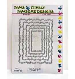 Paws-Itively Pawsome Designs Deckle Rectangle Set - Die