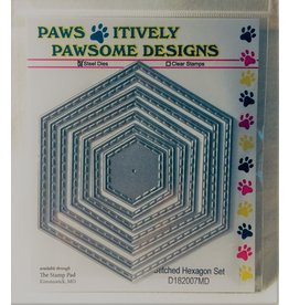 Paws-Itively Pawsome Designs Stitched Hexagon Set - Die