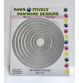 Paws-Itively Pawsome Designs Mini Stitched Circle Set - Die