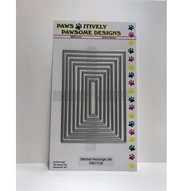 Paws-Itively Pawsome Designs Stitched Rectangle Set - Die