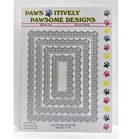 Paws-Itively Pawsome Designs Lacy Pierced Rectangle Set