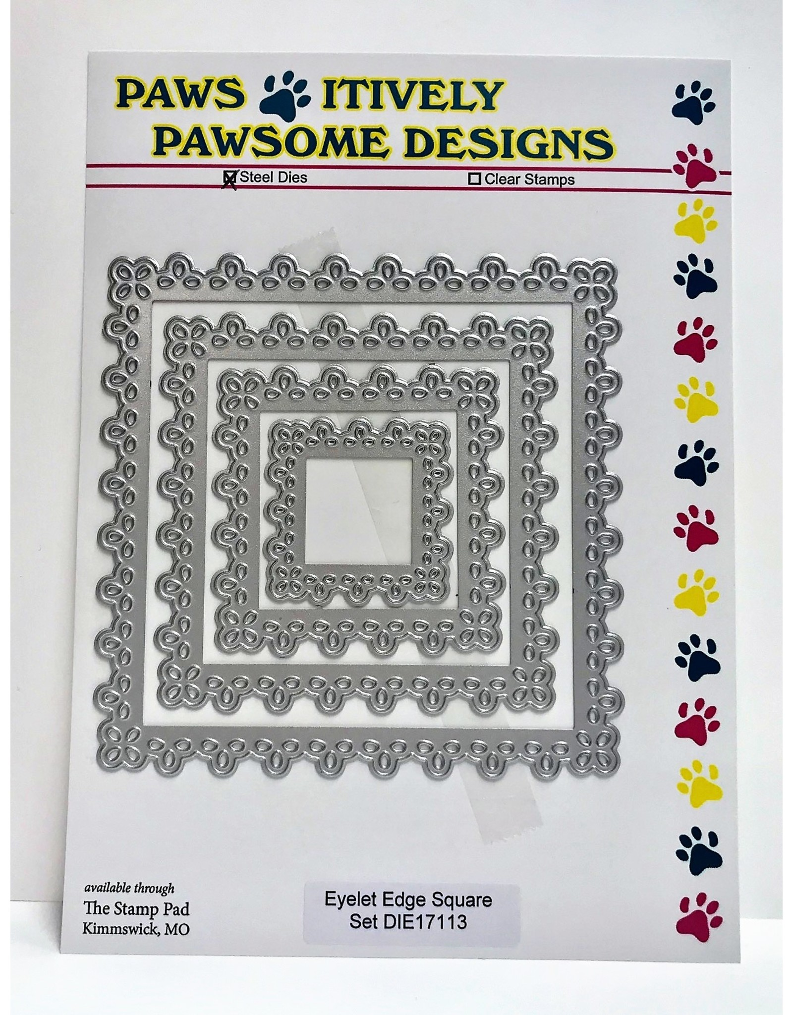 Paws-Itively Pawsome Designs Eyelet Edge Square Set - Die