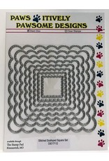 Paws-Itively Pawsome Designs Stitched Scalloped Square Set - Die