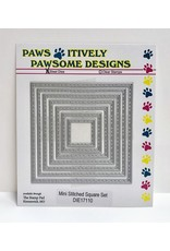 Paws-Itively Pawsome Designs Mini Stitched Square Set - Die