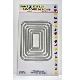 Paws-Itively Pawsome Designs Stitched Rounded Rectangles (PP)