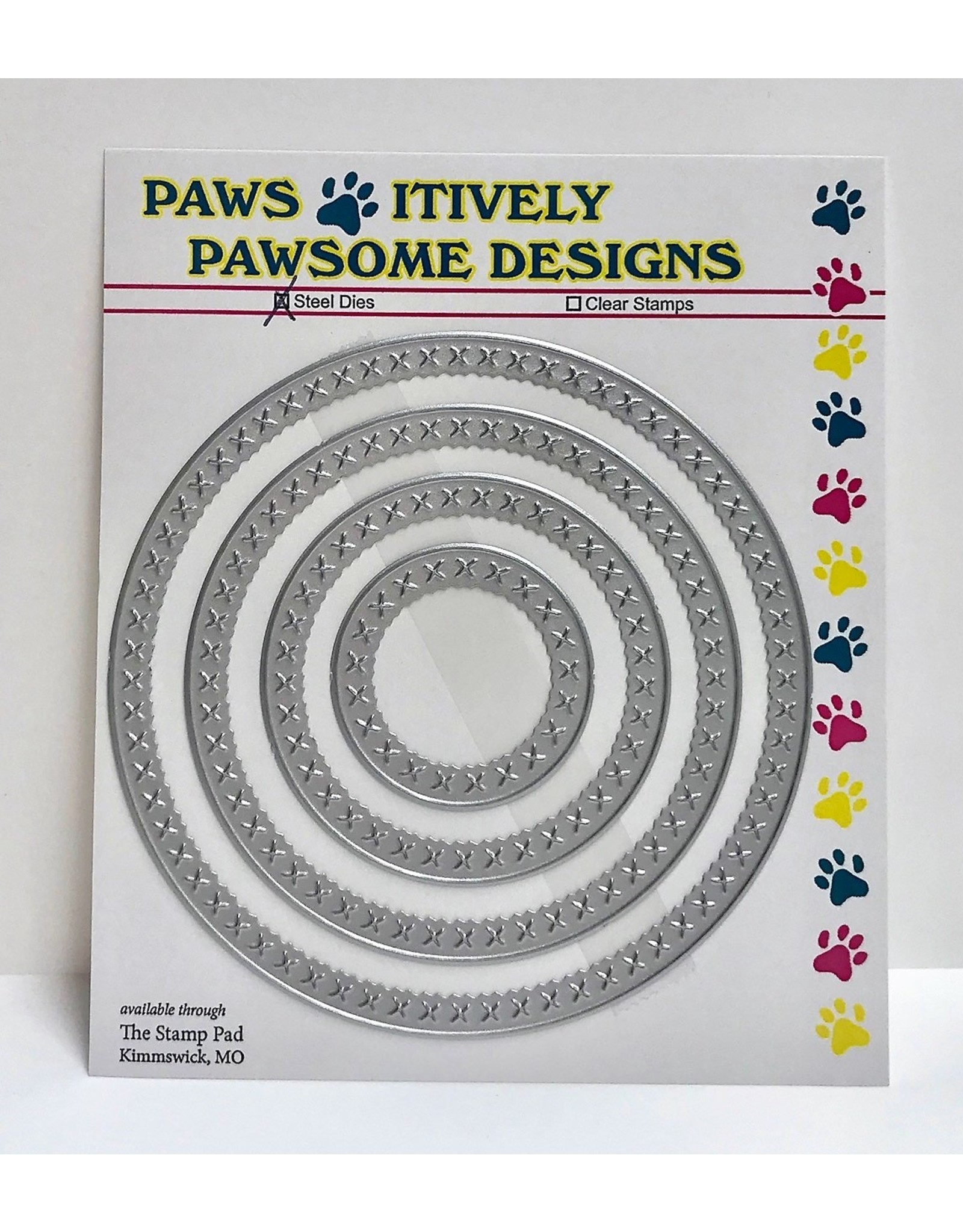 Paws-Itively Pawsome Designs Cross Stitch Circles - Die