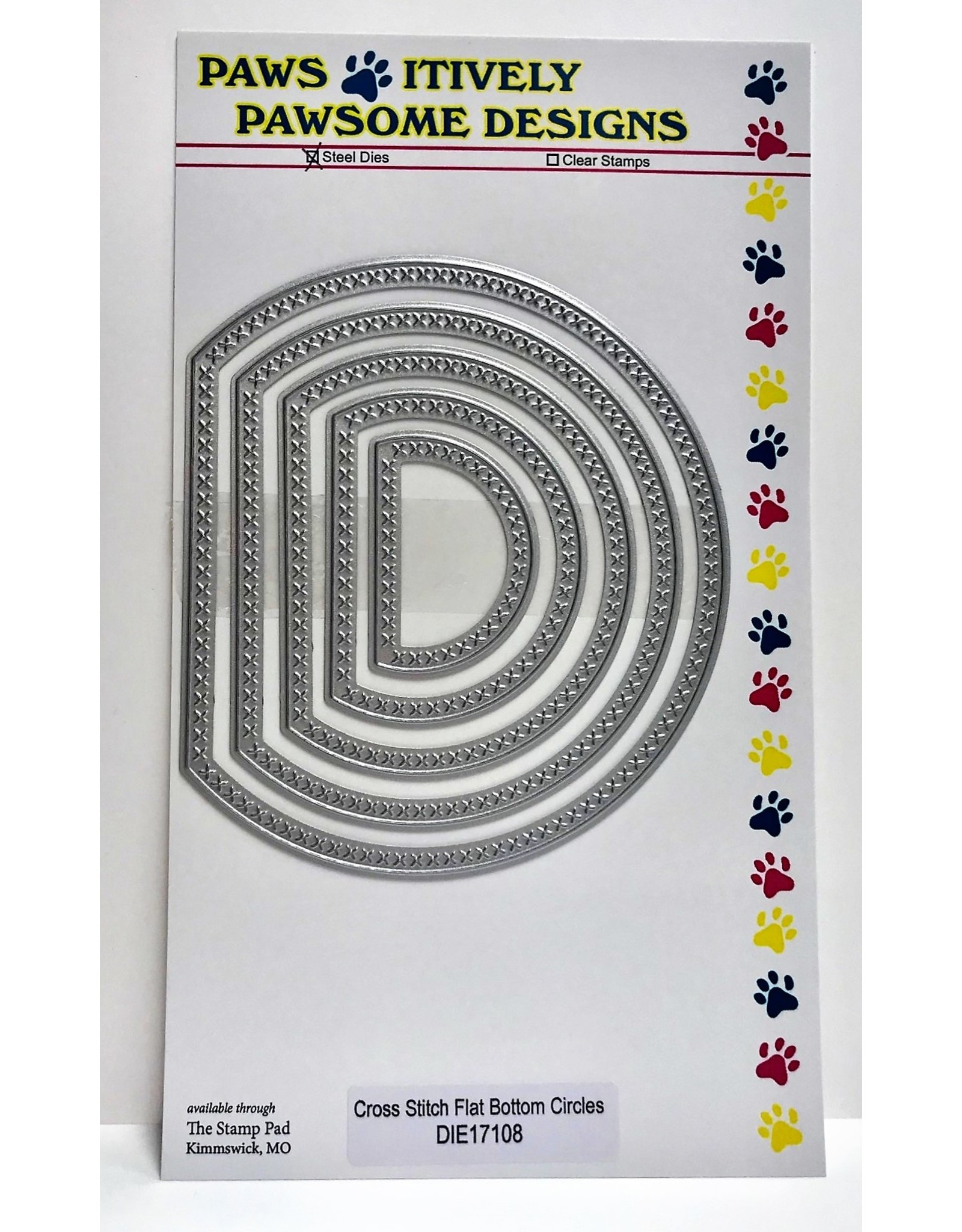 Paws-Itively Pawsome Designs Cross Stitch Flat Bottom Circles - Die