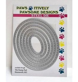Paws-Itively Pawsome Designs Mini Stitched Oval Set - Die
