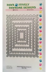 Paws-Itively Pawsome Designs Stitched Postage Stamp Rectangle Set - Die