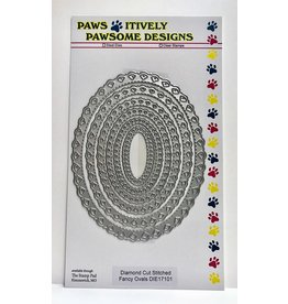 Paws-Itively Pawsome Designs Diamond Cut Stitched Fancy Oval Set - Die