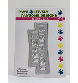 Paws-Itively Pawsome Designs Retro Happy Birthday - Die
