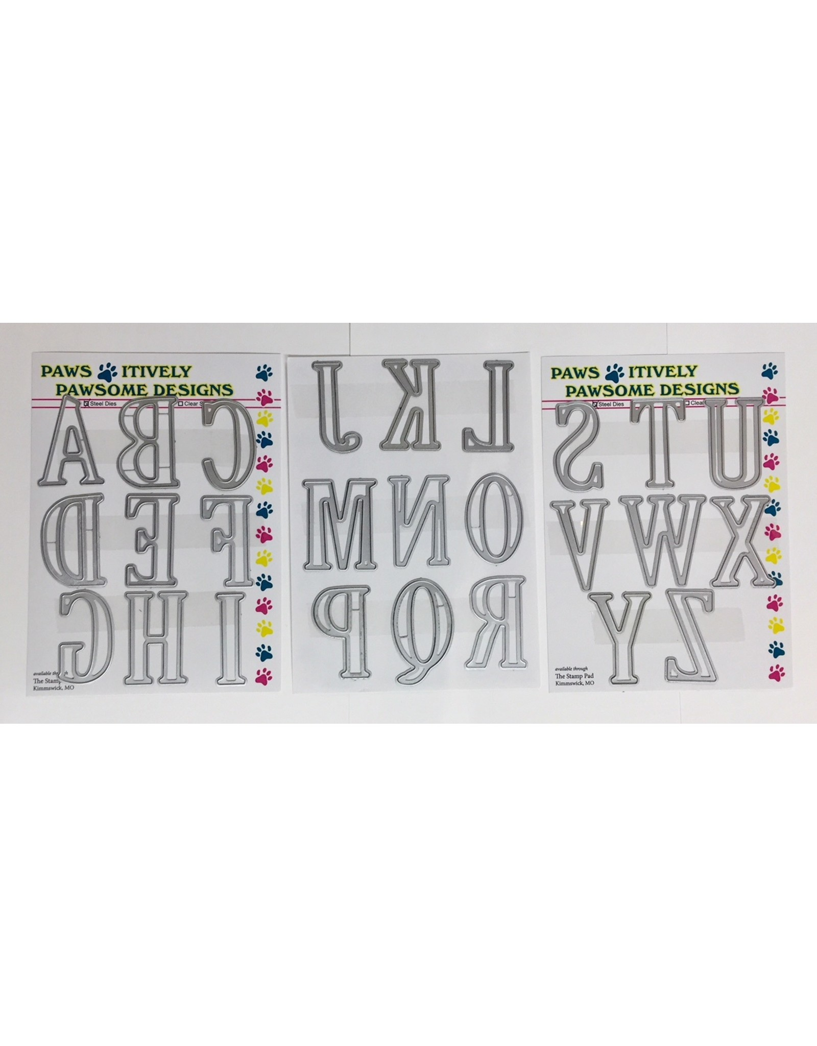 Paws-Itively Pawsome Designs XL Alphabet - Die