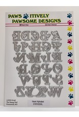 Paws-Itively Pawsome Designs Heart Alphabet - Die