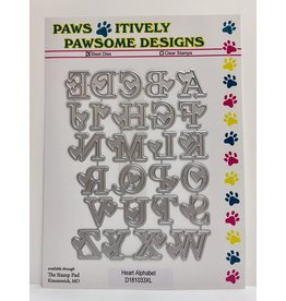 Paws-Itively Pawsome Designs Heart Alphabet