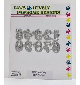 Paws-Itively Pawsome Designs Heart Numbers - Die