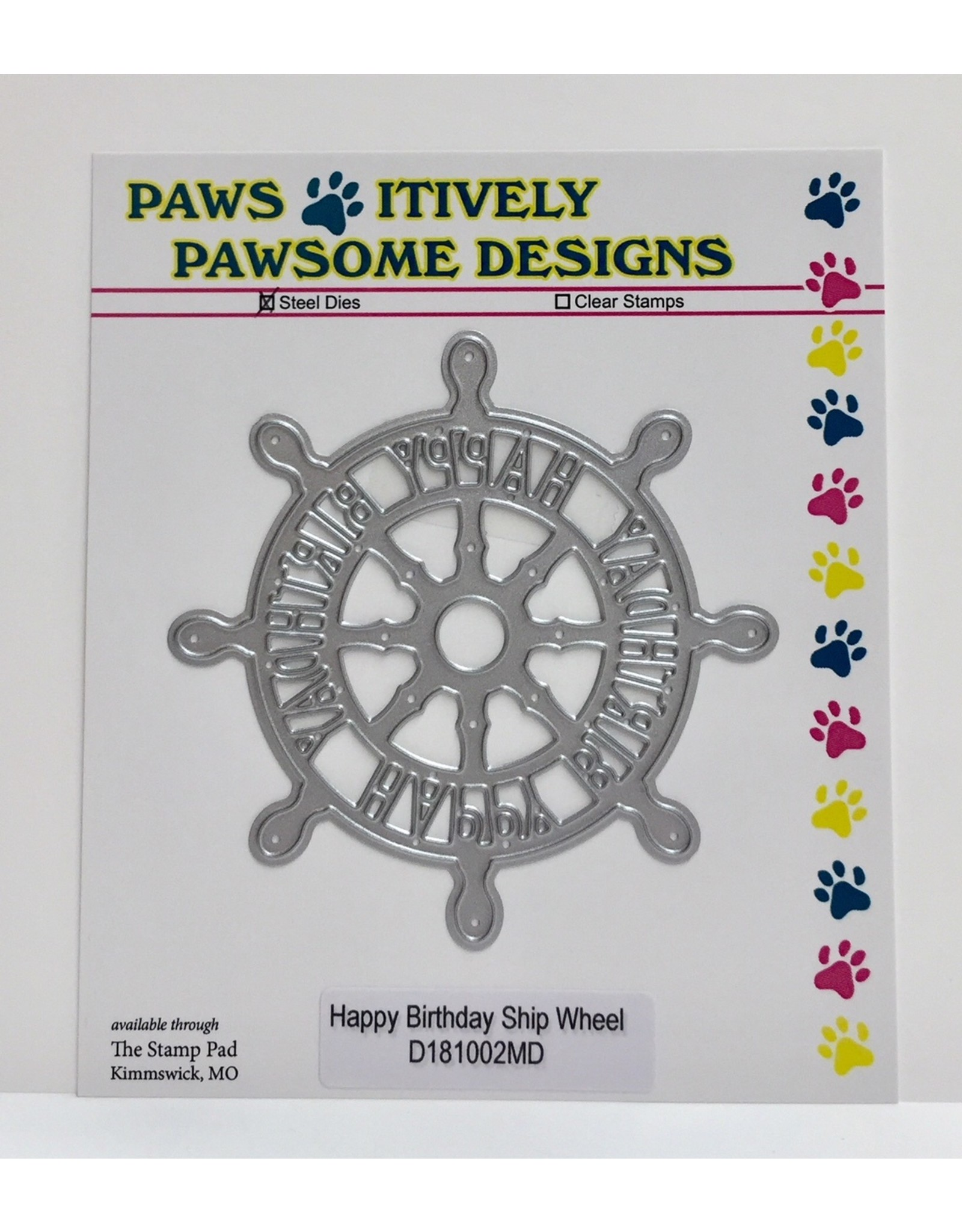 Paws-Itively Pawsome Designs Happy Birthday Ship Wheel - Die