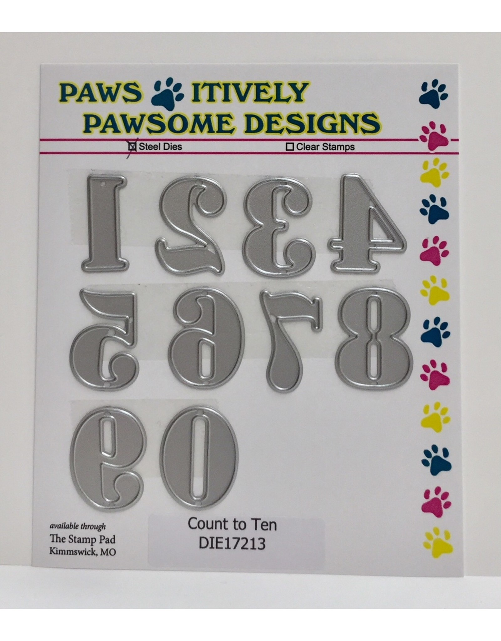 Paws-Itively Pawsome Designs Count to Ten - Die