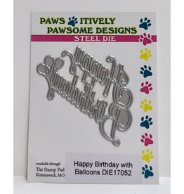 Paws-Itively Pawsome Designs Happy Birthday w/Balloons
