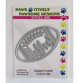 Paws-Itively Pawsome Designs Detailed Football - Die