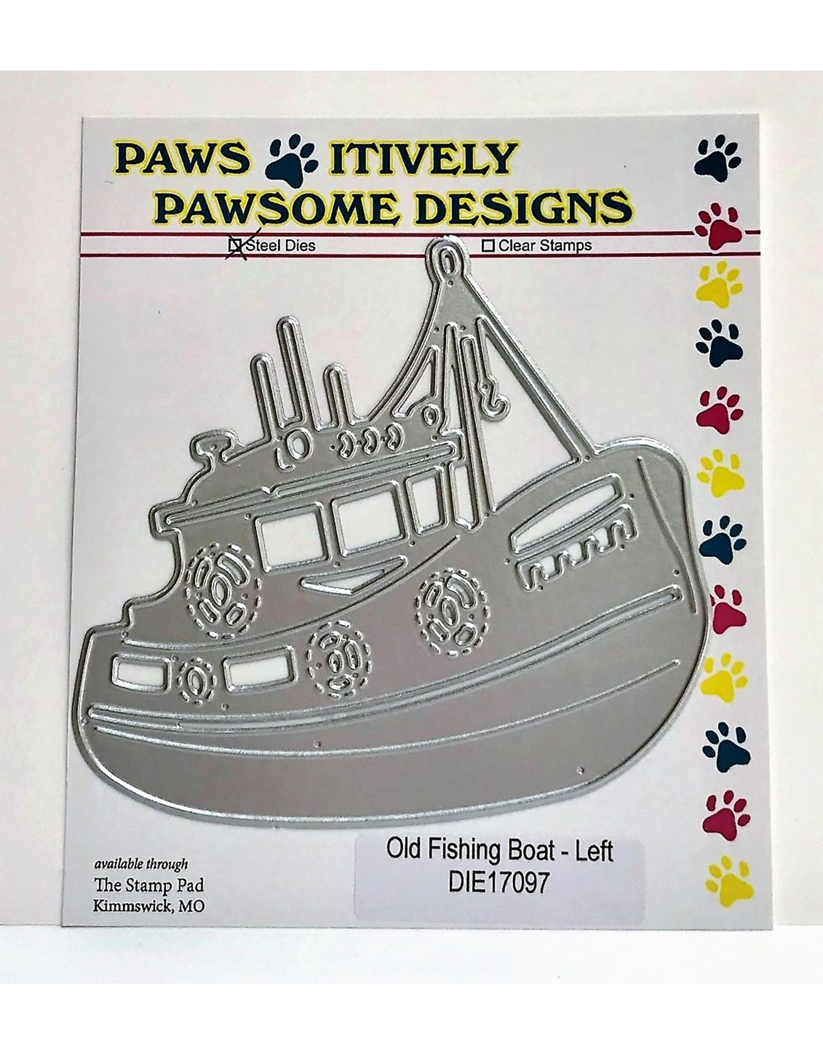 Paws-Itively Pawsome Designs Old Fishing Boat (left) - Die