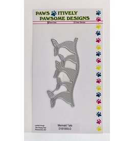 Paws-Itively Pawsome Designs Mermaid Tails - Die