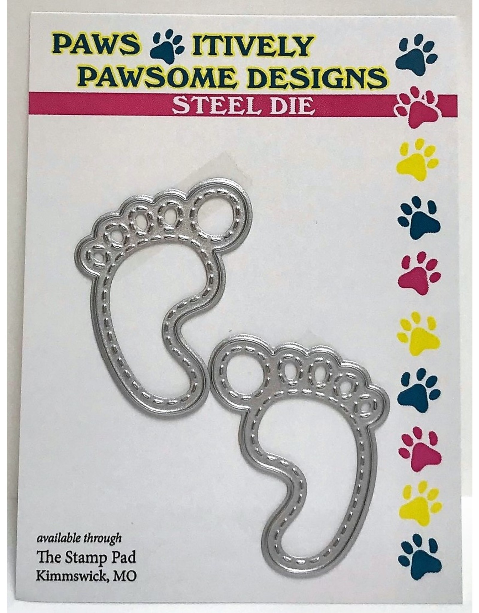Paws-Itively Pawsome Designs Stitched Baby Feet - Die