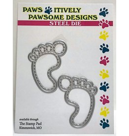 Paws-Itively Pawsome Designs Stitched Baby Feet