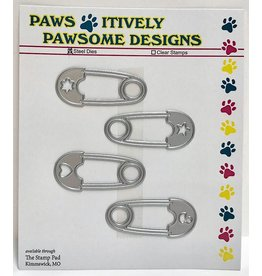 Paws-Itively Pawsome Designs Cute Baby Pins (Set of 4) - Die