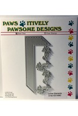 Paws-Itively Pawsome Designs Corner Elements - Die