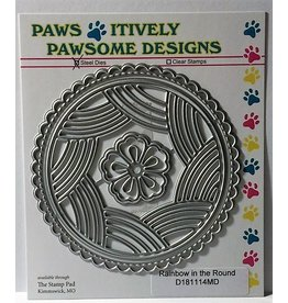 Paws-Itively Pawsome Designs Rainbow in the Round - Die