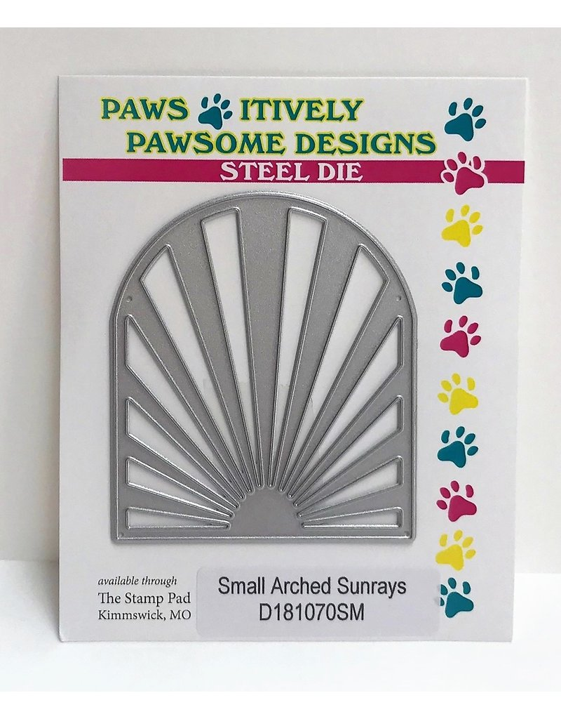 Paws-Itively Pawsome Designs Small Arched Sunrays - Die