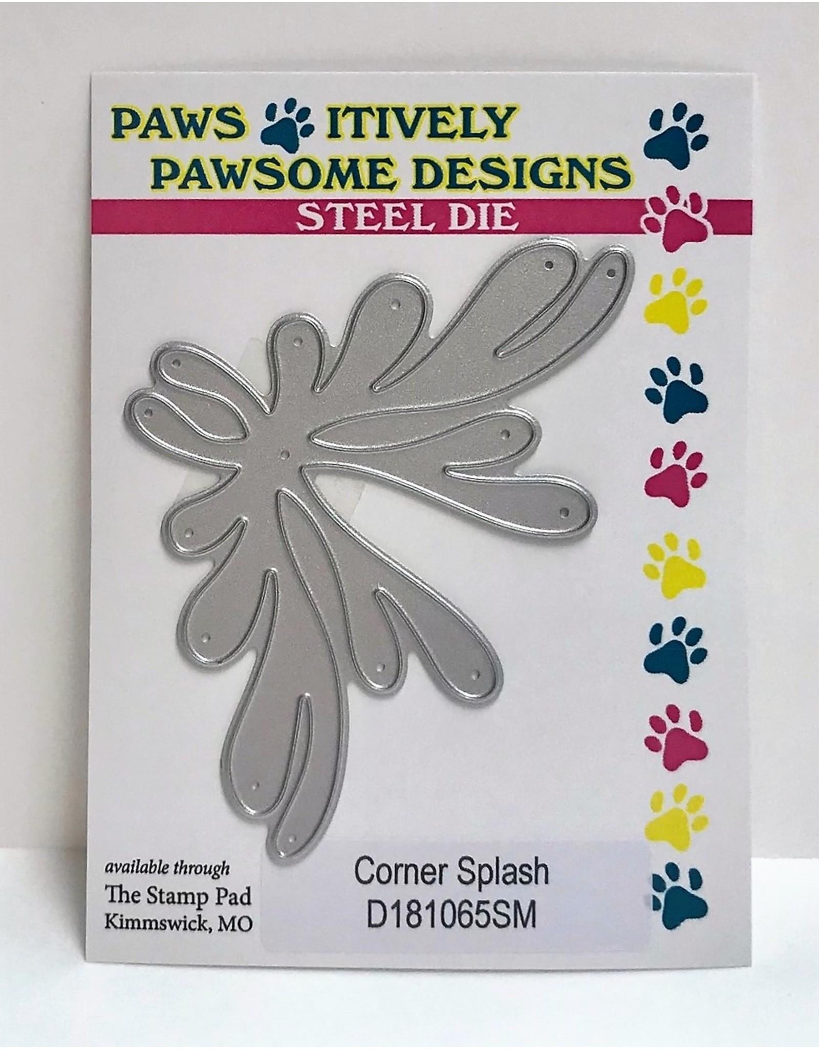 Paws-Itively Pawsome Designs Corner Splash - Die