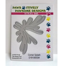 Paws-Itively Pawsome Designs Corner Splash - Die