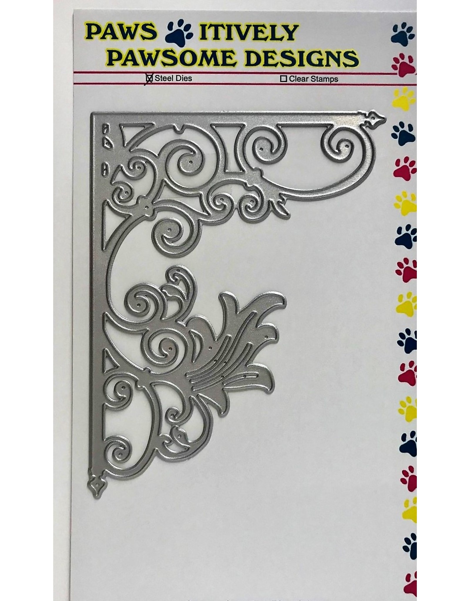 Paws-Itively Pawsome Designs Corner Scrolled Flourish - Die