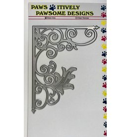 Paws-Itively Pawsome Designs Corner Scrolled Flourish
