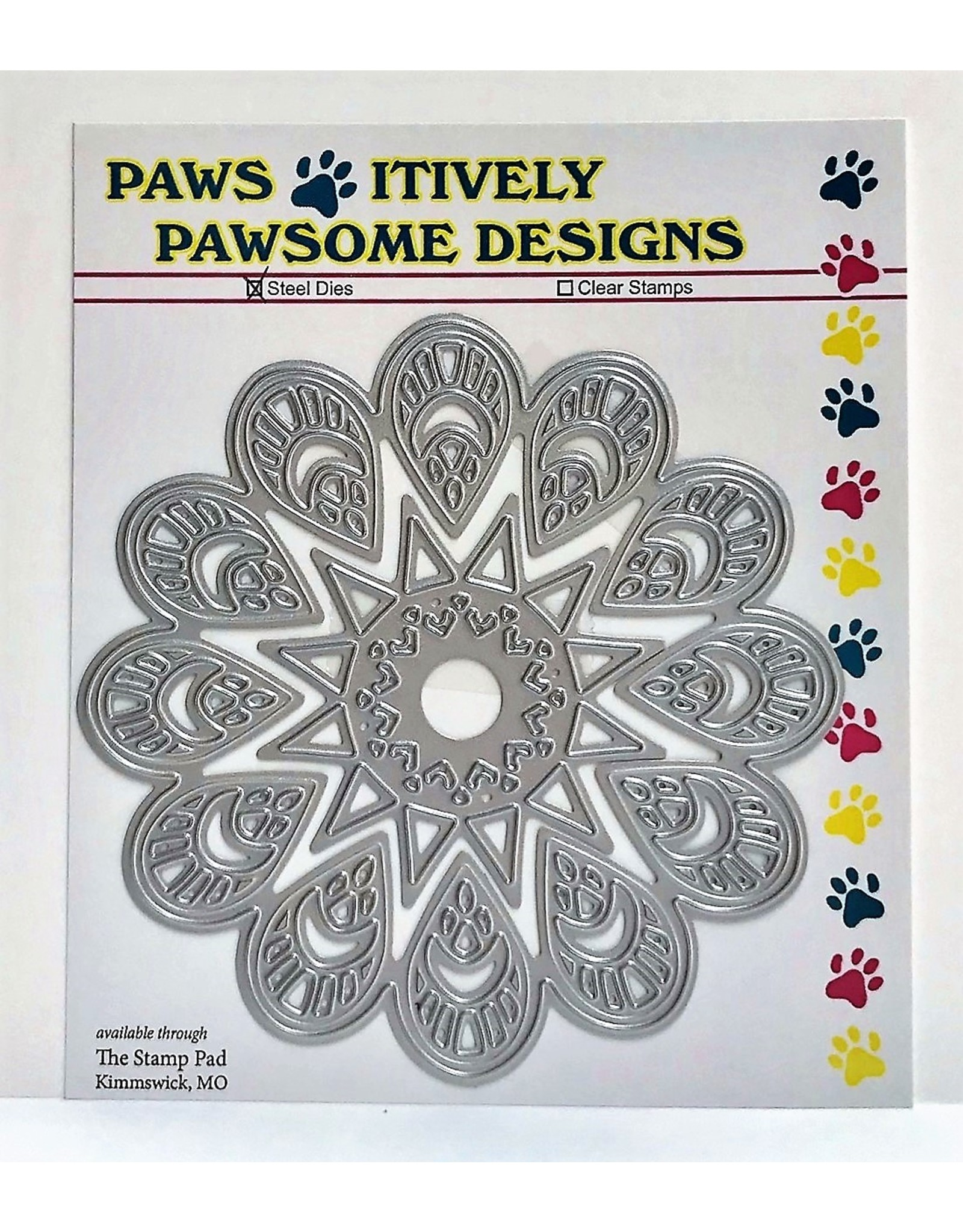 Paws-Itively Pawsome Designs Teardrop Medallion - Die