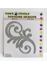 Paws-Itively Pawsome Designs Large Flourish - Die