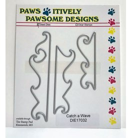 Paws-Itively Pawsome Designs Catch a Wave - Die