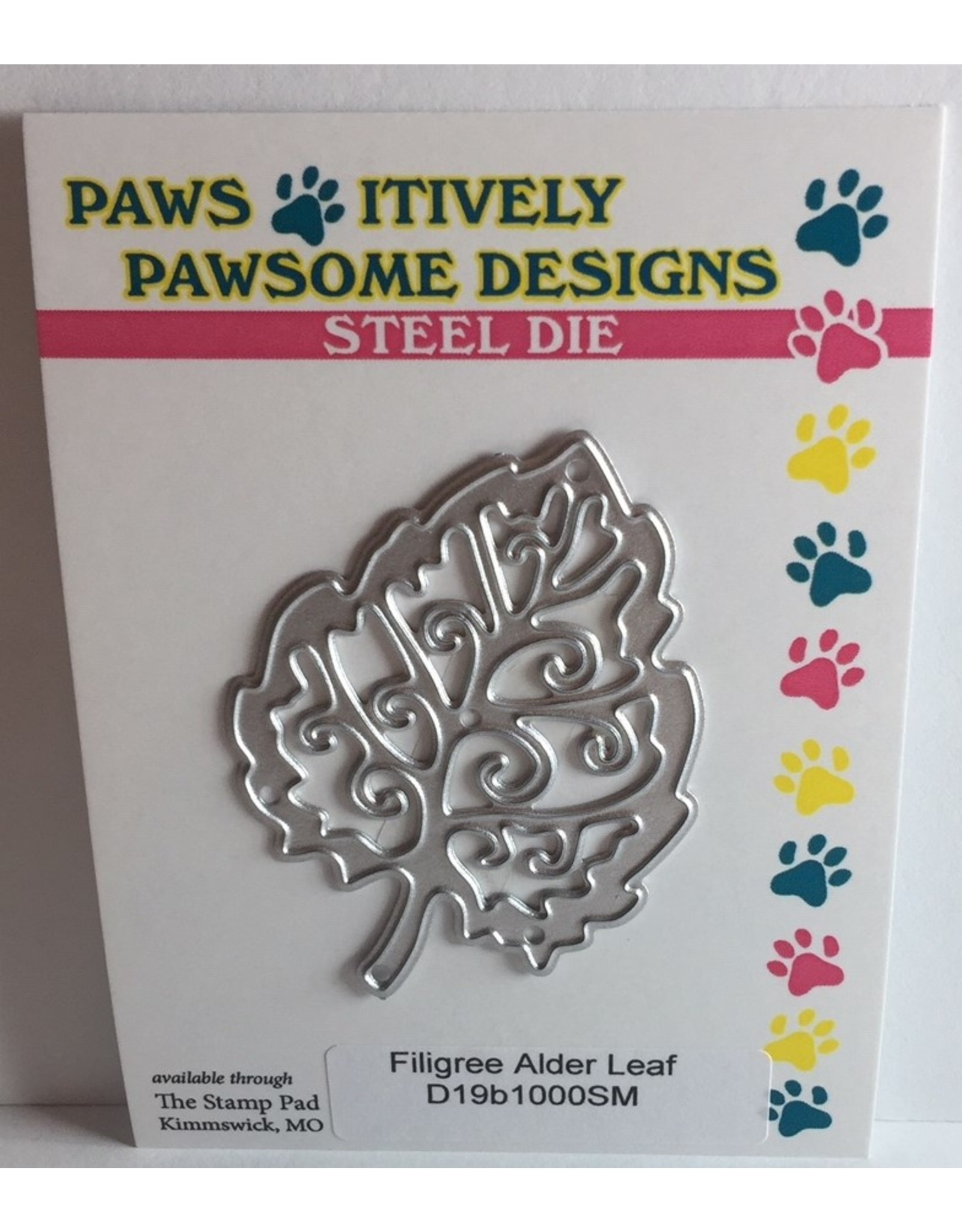 Paws-Itively Pawsome Designs Filigree Alder Leaf - Die