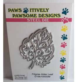 Paws-Itively Pawsome Designs Filigree Alder Leaf