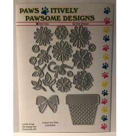Paws-Itively Pawsome Designs Potted Your Way - Die