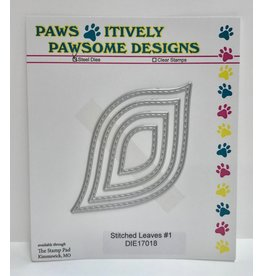 Paws-Itively Pawsome Designs Stitched Leaves #1 - Die