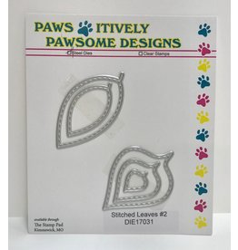 Paws-Itively Pawsome Designs Stitched Leaves #2 (5 pcs.) - Die