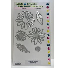 Paws-Itively Pawsome Designs Layering Daisies - Die