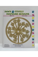Paws-Itively Pawsome Designs Dandelion Burst (Gold) - Die