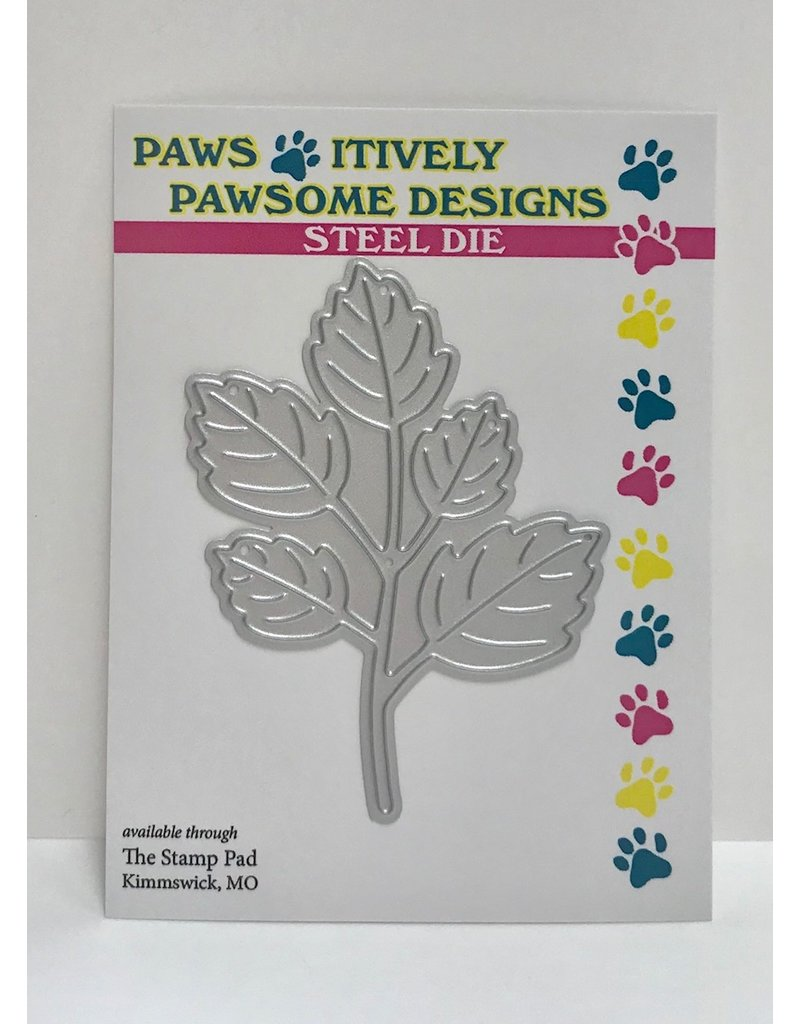 Paws-Itively Pawsome Designs 5-Leaf Greenery Stem - Die